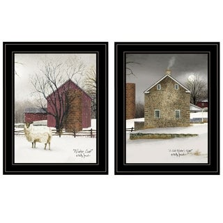 """Cold Winter"" 2-Piece Vignette by Billy Jacobs, Black Frame"