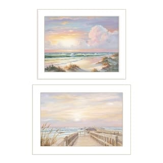 """Sunrise-Sunset"" 2-Piece Vignette  by Georgia Janisse, White Frame"