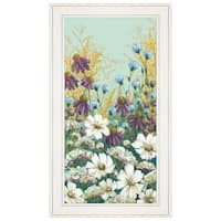 """Floral Field Day"" by Michele Norman, Ready to Hang Framed Print, White Frame"