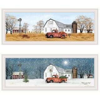 """""""Billy Jacobs Seasonal-Autumn/Winter"""" 2-Piece Vignette, White Frame"""