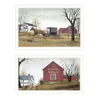 """""""Goin to Market"""" 2-Piece Vignette by Billy Jacobs, White Frame"""