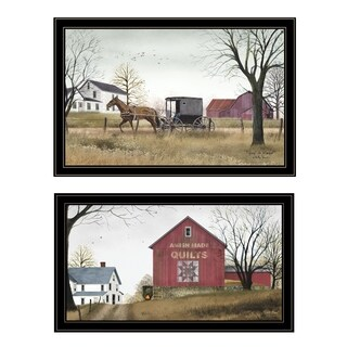 """Goin to Market "" 2-Piece Vignette by Billy Jacobs, Black Frame"
