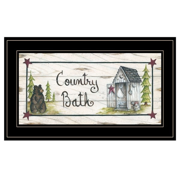 """""""Country Bath"""" by Mary Ann June, Ready to Hang Framed Print, Black Frame. Opens flyout."""