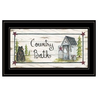 """""""Country Bath"""" by Mary Ann June, Ready to Hang Framed Print, Black Frame"""