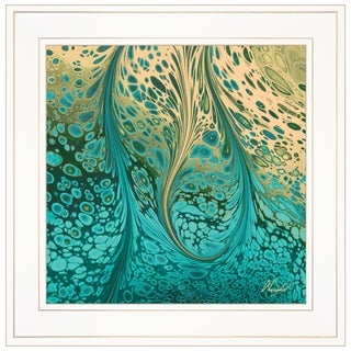 """Fluid Vibrations"" by Nancy Wood, Ready to Hang Framed Print, White Frame"