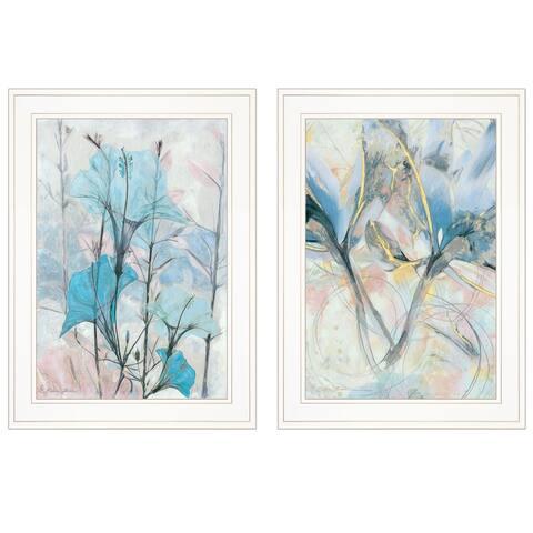 """Graden Des Peint"" 2-Piece Vignette by Sheila Elsea, White Frame"
