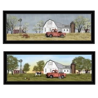 """Billy Jacobs Summer/Spring Seasonal"" 2-Piece Vignette, Black Frame"