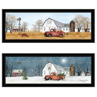 """Billy Jacobs Seasonal-Autumn/Winter"" 2-Piece Vignette, Black Frame"