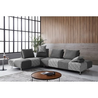 Link to Strick & Bolton Gavarni Grey Houndstooth Modular Sectional/ Sofa Bed Similar Items in Living Room Furniture