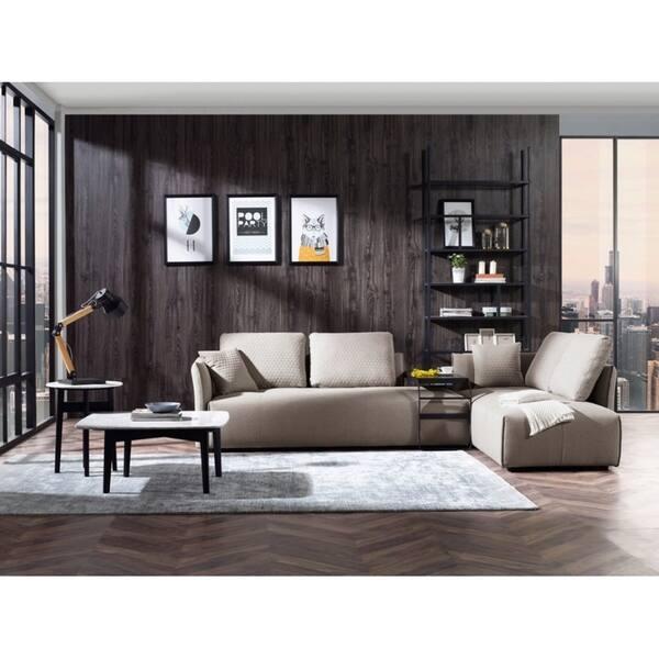 Shop Divani Casa Polson Modern Modular Light Grey Fabric ...