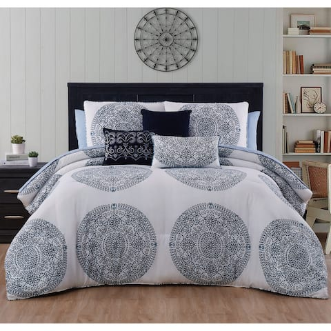 The Curated Nomad Locksley Medallion Reversible Comforter Set