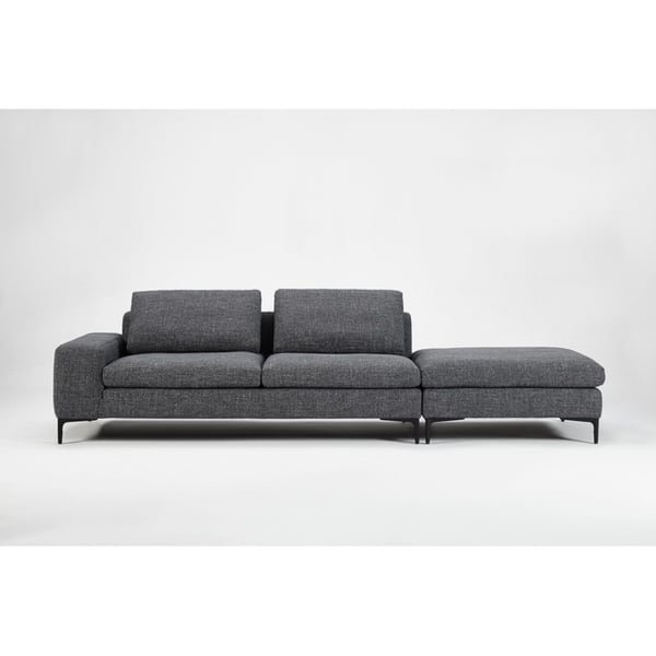 Marvelous Shop Divani Casa Cascade Modern Dark Grey Fabric Modular Evergreenethics Interior Chair Design Evergreenethicsorg