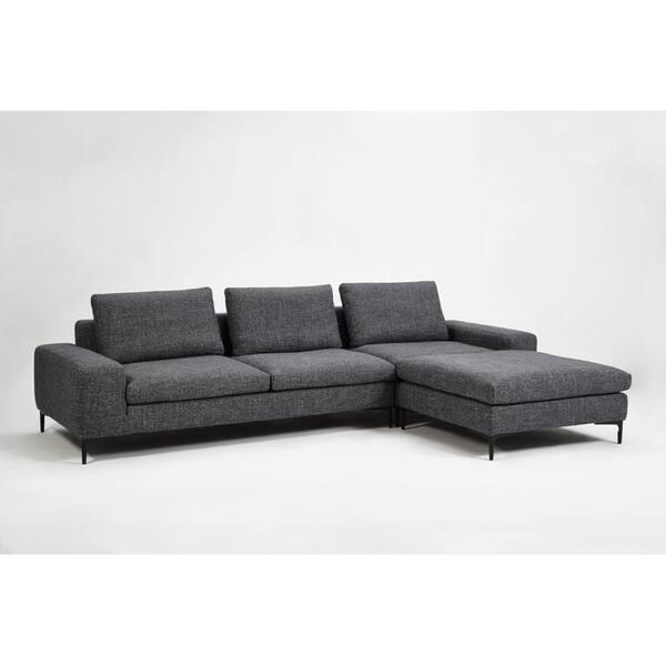 Tremendous Shop Divani Casa Cascade Modern Dark Grey Fabric Modular Evergreenethics Interior Chair Design Evergreenethicsorg