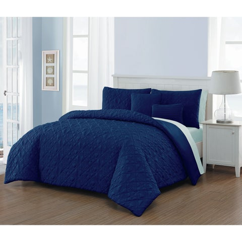 Del Ray Coastal Embossed Comforter Set with Sheets