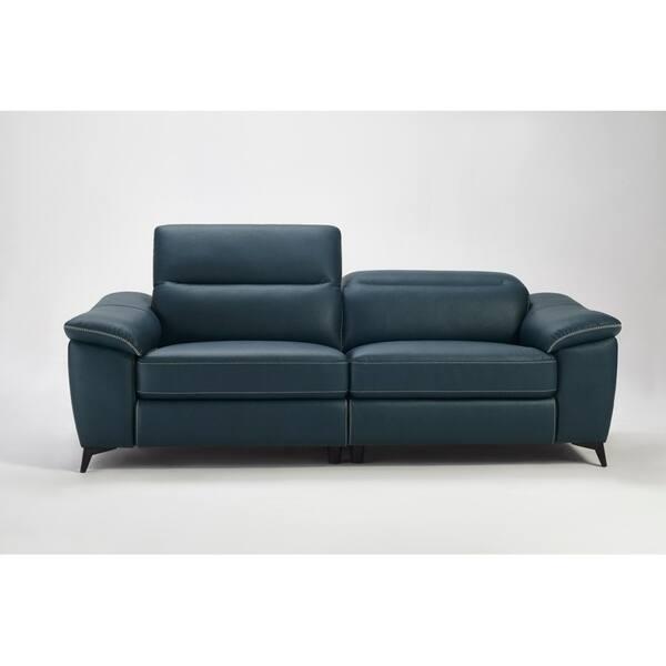 Outstanding Shop Divani Casa Melstone Modern Blue Leatherette Sofa Set W Forskolin Free Trial Chair Design Images Forskolin Free Trialorg