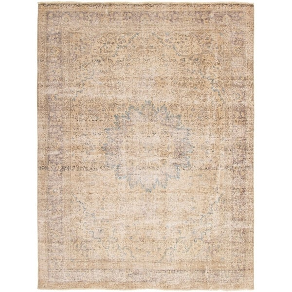 ECARPETGALLERY Hand-knotted Color Transition Khaki Wool Rug - 8'5 x 11'0
