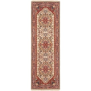 ECARPETGALLERY Hand-knotted Serapi Heritage Cream Wool Rug - 2'7 x 8'1