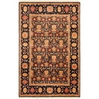 ECARPETGALLERY Hand-knotted Peshawar Oushak Black, Dark Red Wool Rug - 6'0 x 9'2