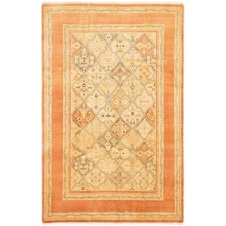 ECARPETGALLERY Hand-knotted Peshawar Oushak Copper, Khaki Wool Rug - 5'10 x 9'2