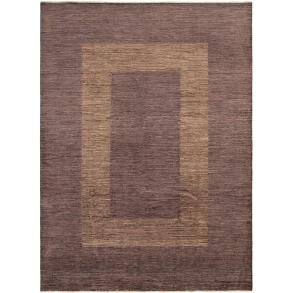 ECARPETGALLERY Hand-knotted Finest Ziegler Chobi Purple Wool Rug - 9'1 x 12'3