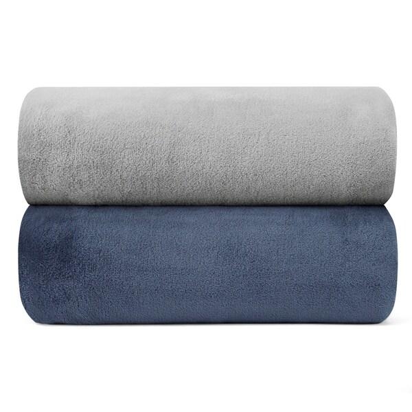 Nautica Solid Ultra Plush Blankets