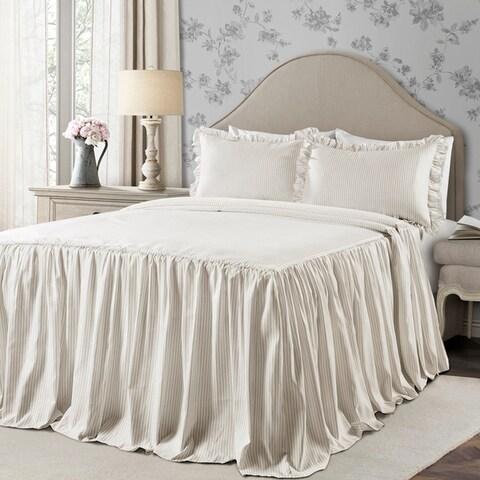Lush Decor Ticking Stripe Bedspread Set