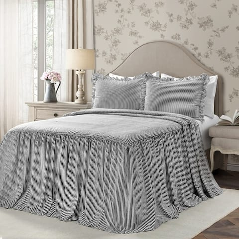 Porch & Den Lindenwold Ticking Stripe Bedspread Set