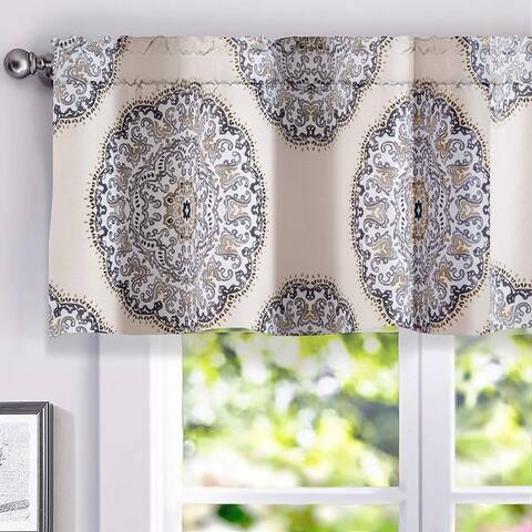 Porch & Den Alfreda Medallion Lined Window Valance