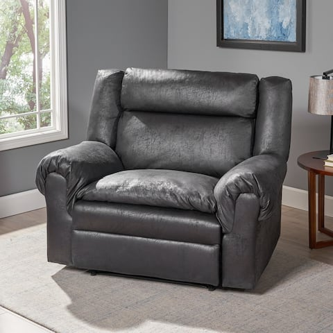 Farman Microfiber Recliner by Christopher Knight Home