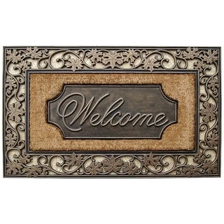 """A1HC First Impression Rubber and Coir Dirt Trapper Heavy Weight 18""""X30"""" Welcome Doormat"""