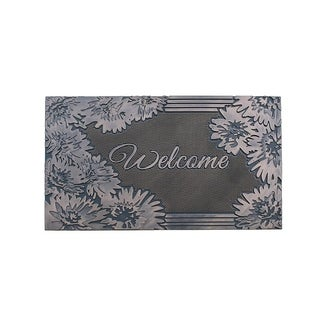 """Welcome Rubber Pin Mat, Beautifully Copper Hand Finished, Non-Slip, Durable Heavy Duty Doormat, 18"""" L X 30"""" W"""