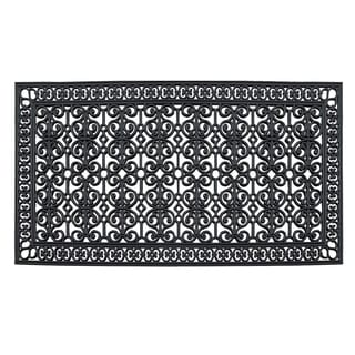 "Rubber Paisley, Beautifully Hand Finished,Thick, Durable ,High Quality Rubber, Extra Large Size, Double,Doormat, 72"" L X 36"" W"