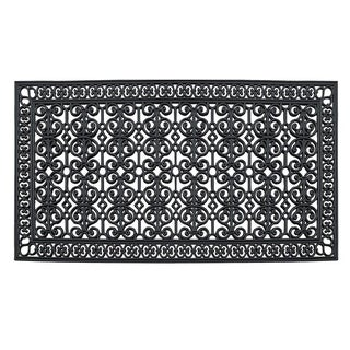 "A1HC Rubber Paisley, Beautifully Hand Finished Double,Doormat, 72""X36"""