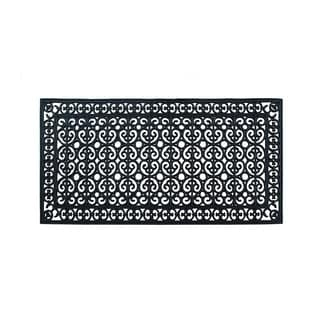 "Rubber Paisley, Beautifully Hand Finished,Thick, Durable ,High Quality Rubber, Extra Large Size, Double,Doormat, 60"" L X 30"" W"