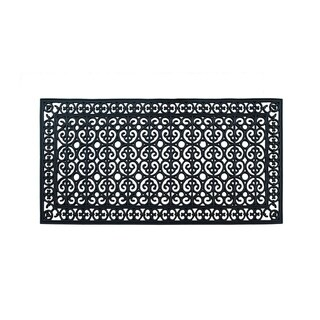 "Rubber Paisley Hand Finished Extra Large Size Double Doormat 60"" X 30"""