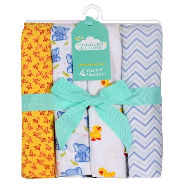 COLOOM Newborn Receiving Blanket Headband Set Baby Swaddle Blankets