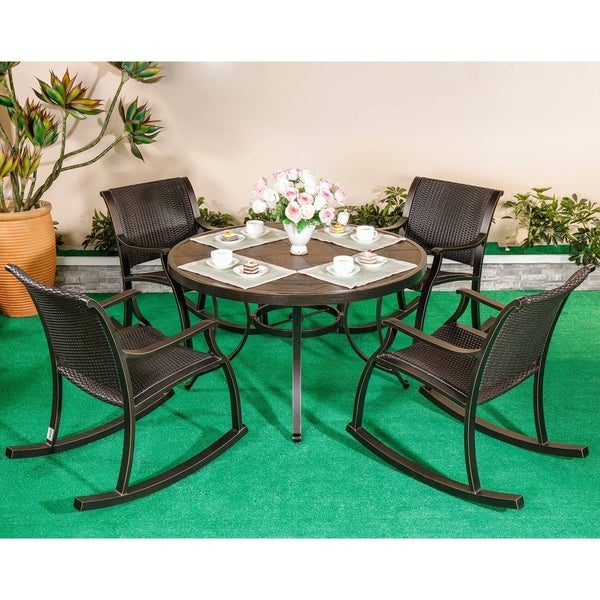 Outdoor Dining Set 5 Piece Patio Furniture