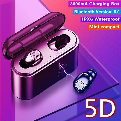 Wireless Bluetooth Earphone Bluetooth 5.0 USB Output Hand-free Calling 5D Stereo Headphone CVC 8.0 Noise Cancelling Earbuds