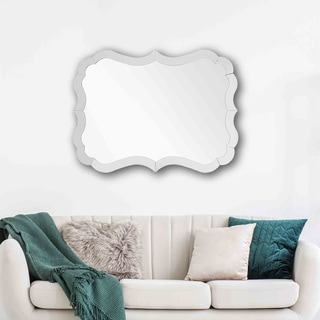 Link to Silver Orchid Adoree Rectangular Wall-mounted Mirror Similar Items in Mirrors