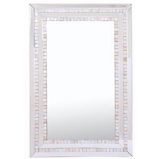 Double Mosaic Tiled Frame Mirror