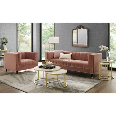 Buy Velvet Living Room Furniture Sets Online at Overstock ...