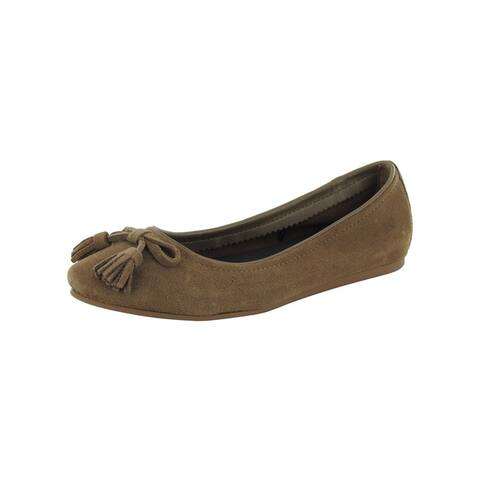 Crocs Womens Lina Embellished Suede Flat Shoes