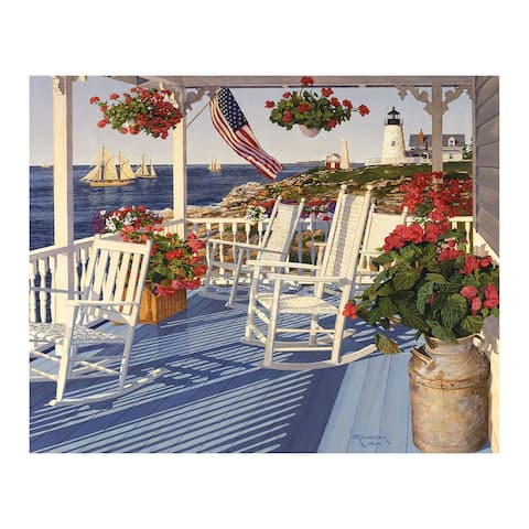 White Mountain Puzzles Lighthouse Point - 1000 Piece Jigsaw Puzzle