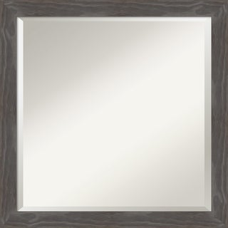 Bathroom Vanity Mirror, Woodridge Rustic Grey Wood - 23 x 23-inch