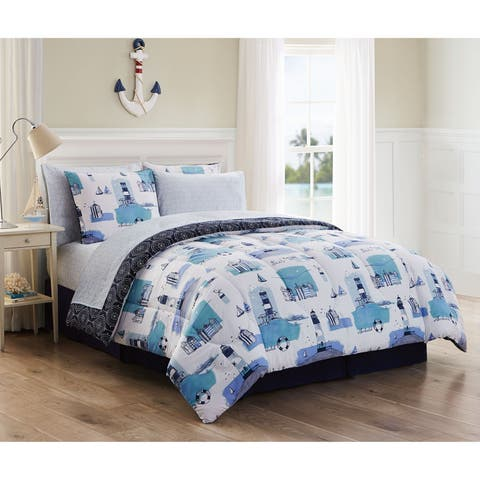 Stone Harbor Coastal Reversible Bed in a Bag