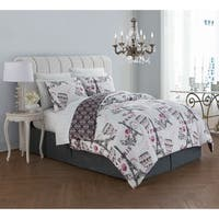 Porch & Den Huserik Paris Themed Reversible Bed in a Bag