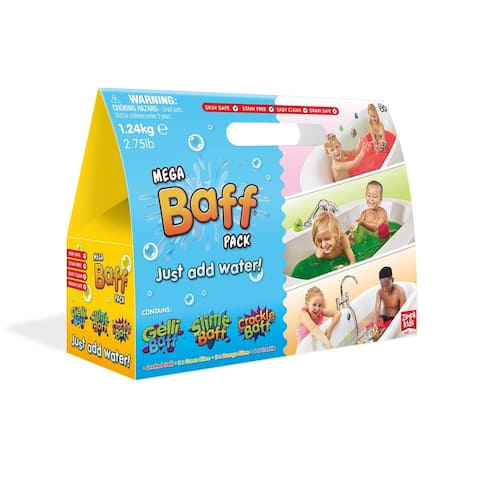 Zimpli Kids Mega Baff Bath Pack Green, Orange, Red, Crackle