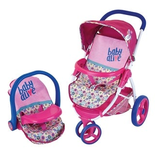Baby Alive Play Baby Doll Travel System with Stroller and Car Seat