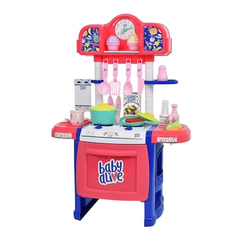 Baby Alive Pretend Play Baby Doll Kitchen Set with Cooking Accessories