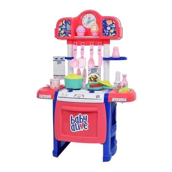 Shop Baby Alive Pretend Play Baby Doll Kitchen Set with ...